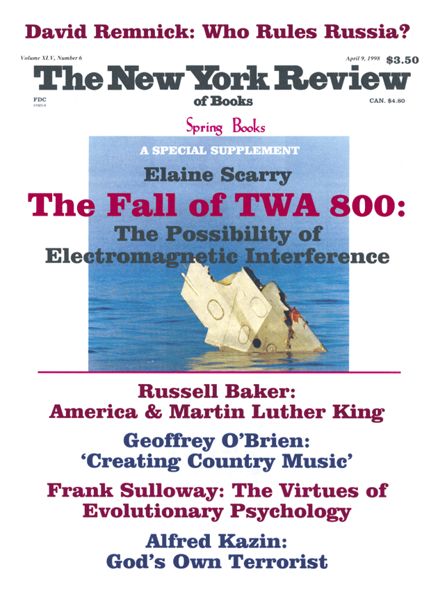 Image of the April 9, 1998 issue cover.