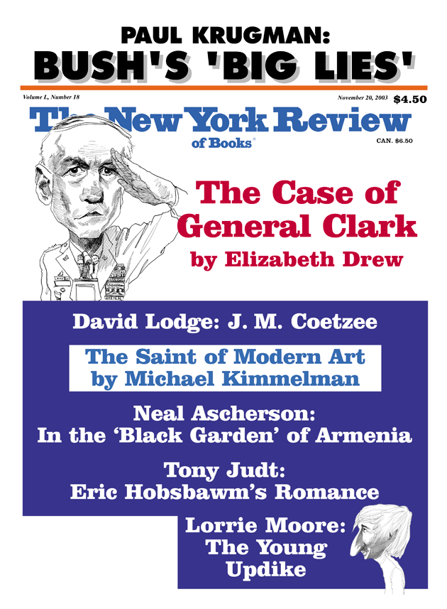 Image of the November 20, 2003 issue cover.