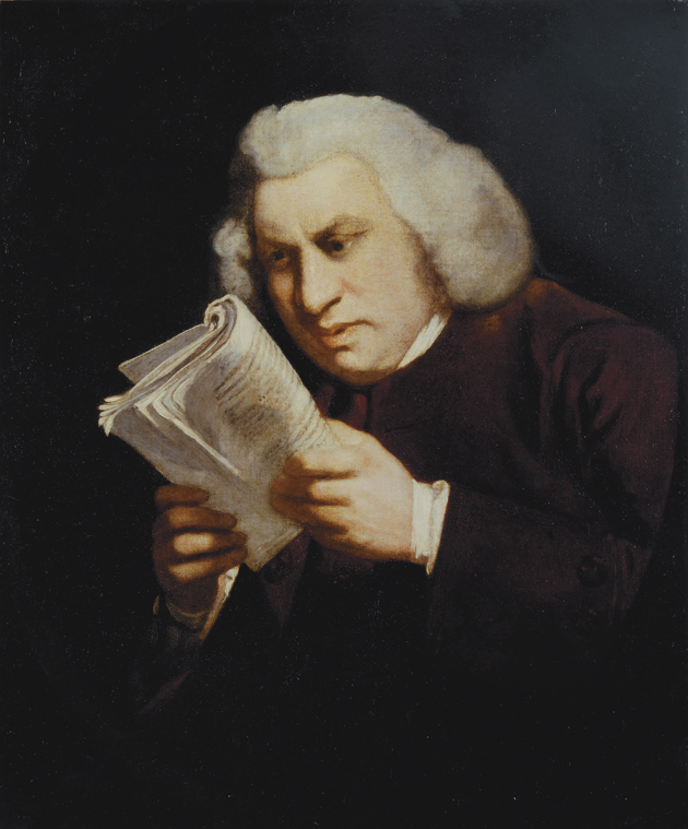 The 'Blinking Sam' portrait of Samuel Johnson by Joshua Reynolds, 1775; on view in the exhibition 'Samuel Johnson: Literary Giant of the 18th Century,' at the Huntington Library, San Marino, California, through September 21, 2009