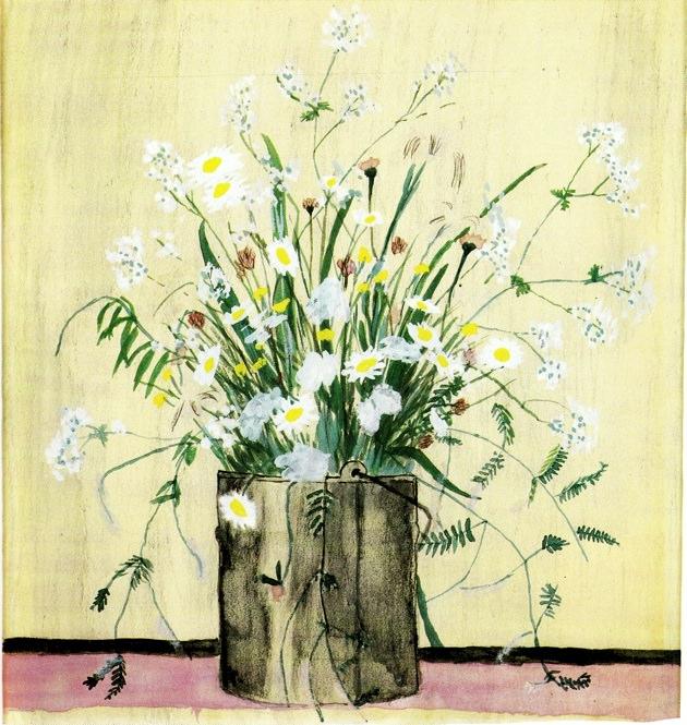 Elizabeth Bishop: Daisies in Paintbucket.jpg