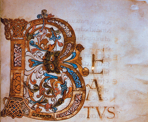 Detail from The Ramsey Psalter, Anglo-Saxon illuminated manuscript, late tenth century