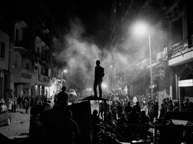 Protesters celebrating Hosni Mubarak's resignation, Cairo, February 11, 2011