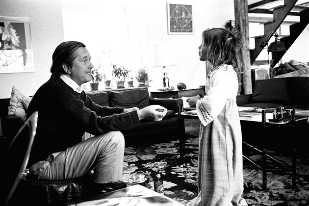 William Styron with his daughter Alexandra, Roxbury, Connecticut, January 1972
