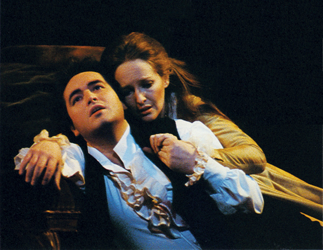 José Carreras as Werther and Frederica von Stade as Charlotte in Werther, Jules Massenet's opera based on Johann Wolfgang von Goethe's novel. Their 1980 recording, conducted by Sir Colin Davis with the orchestra of the Royal Opera House, Covent Garden, has just been reissued by Decca.