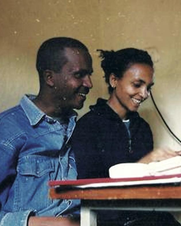 Imprisoned Ethiopian journalist Eskinder Nega and his wife, the journalist Serkalem Fasil