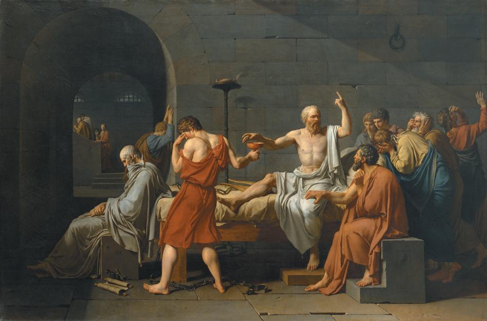 Jacques-Louis David: The Death of Socrates, 1787