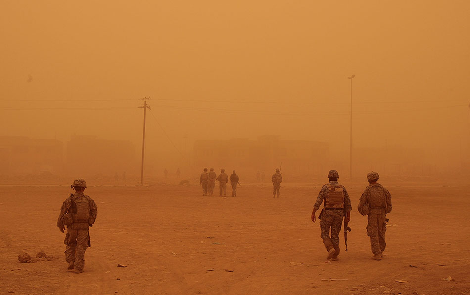 US troops in Baghdad, Iraq, May 16, 2008