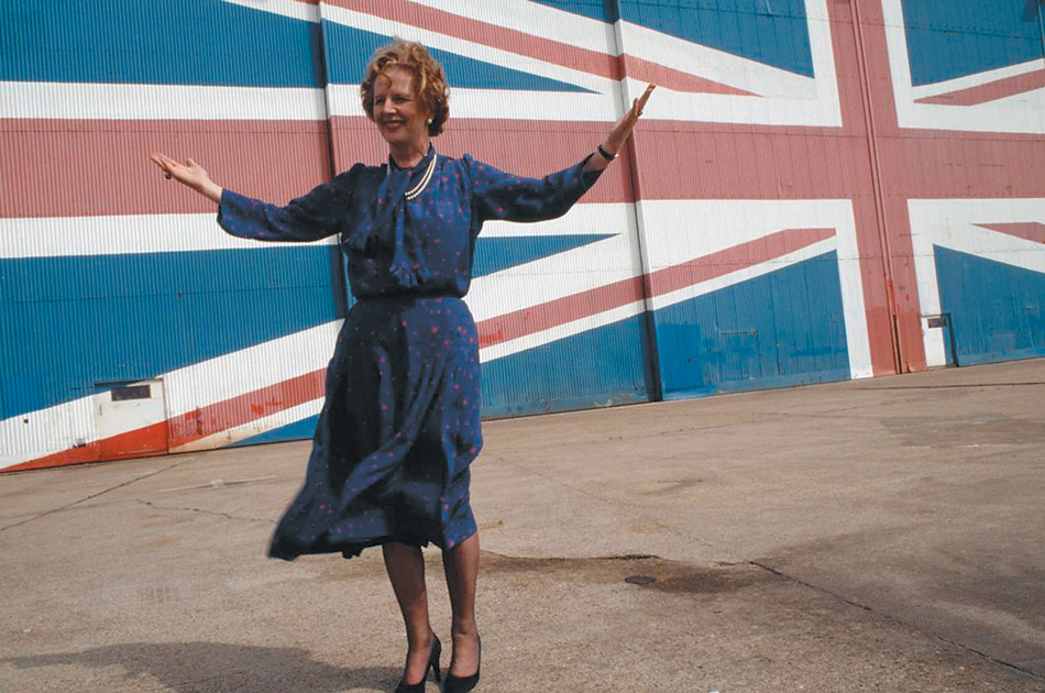 Prime Minister Margaret Thatcher launching the Conservative manifesto on the Isle of Wight, May 1983
