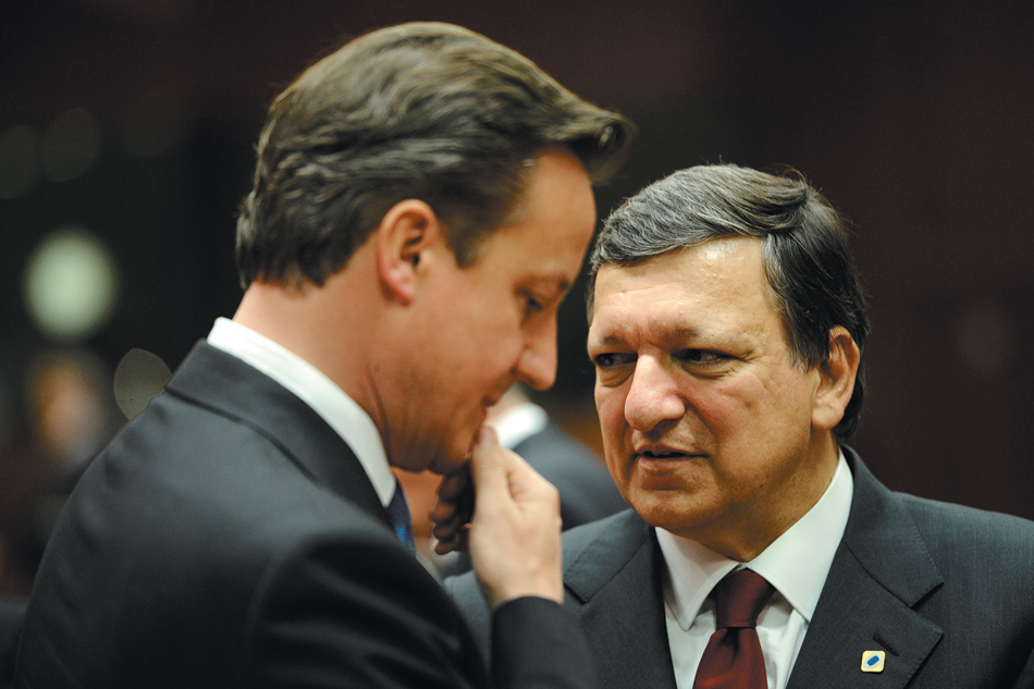 British Prime Minister David Cameron and European Commission President José Manuel Barroso, Brussels, May 2012
