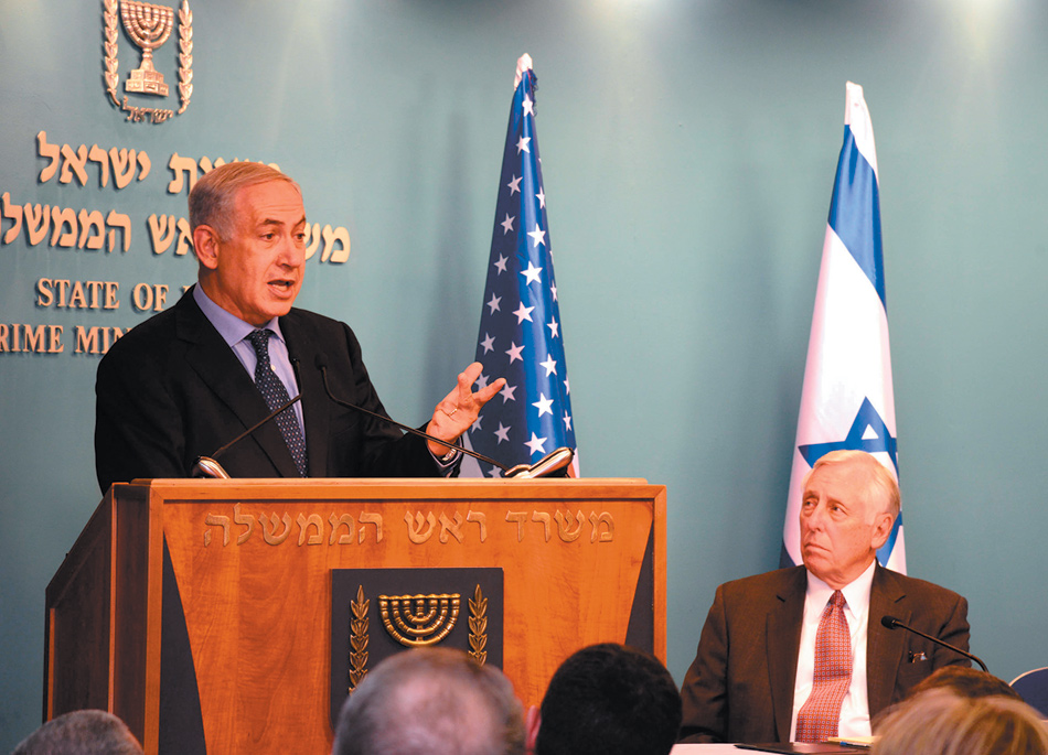 Israeli Prime Minister Benjamin Netanyahu meeting with Steny Hoyer and other Democrats from the US House of Representatives, Jerusalem, August 6, 2013