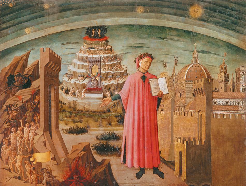 Domenico di Michelino: Dante Reading from the 'Divine Comedy,' 1465