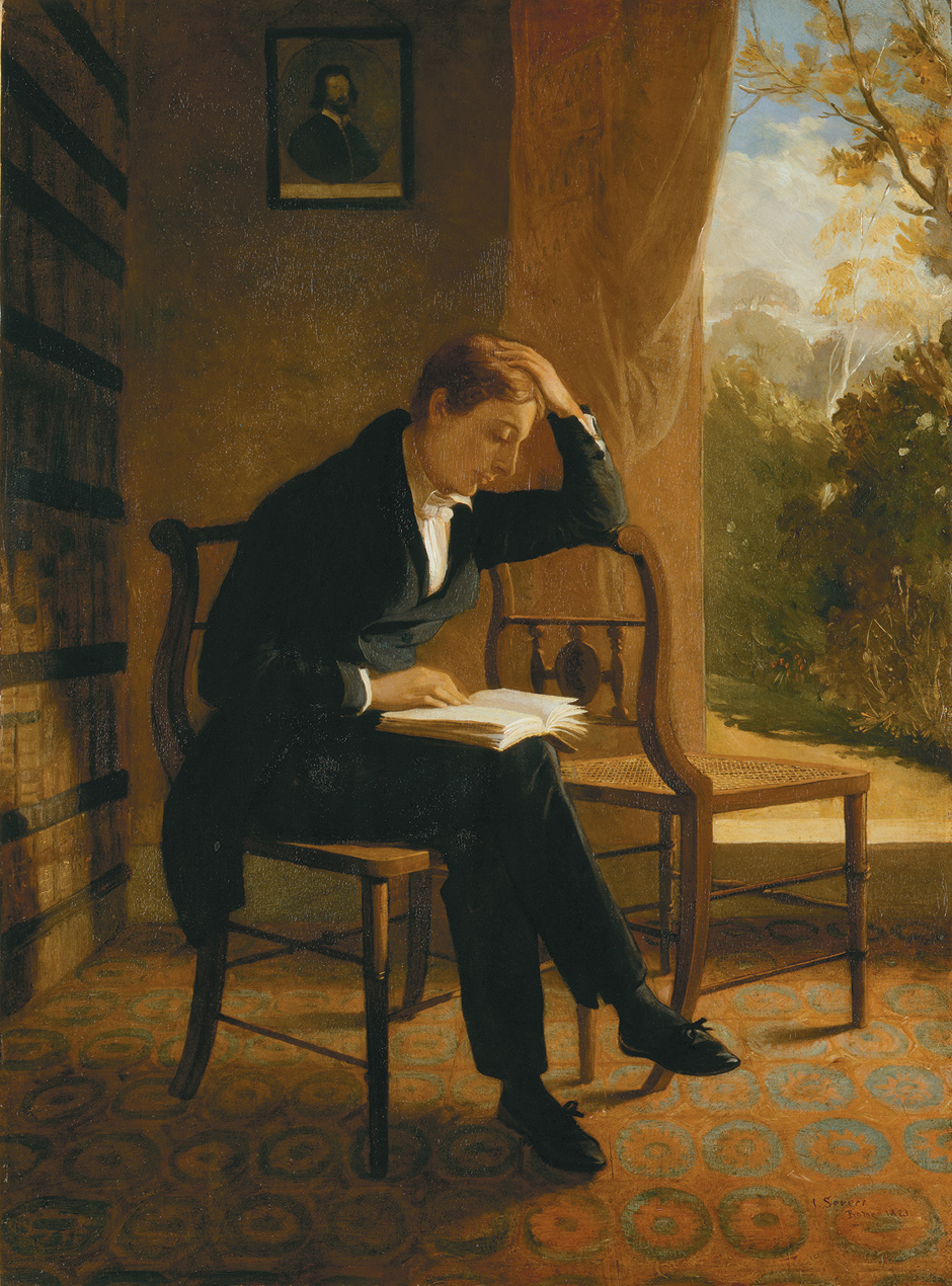 John Keats; portrait by Joseph Severn, 1821–1823