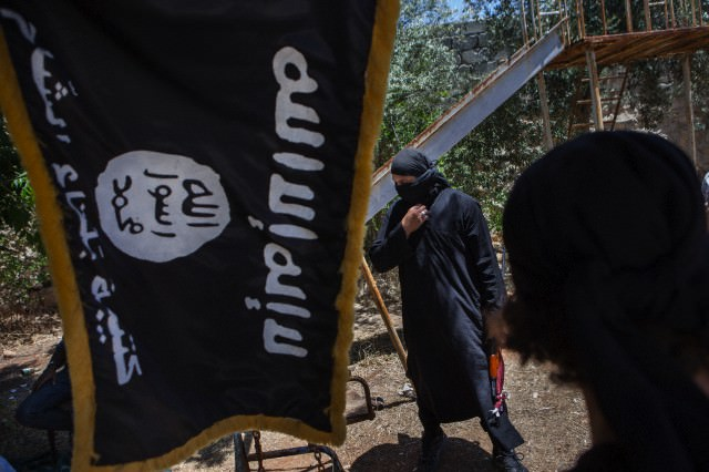 Fighters from the al-Qaeda-linked Islamic State of Iraq and Greater Syria, Aleppo, Syria, July 4, 2013