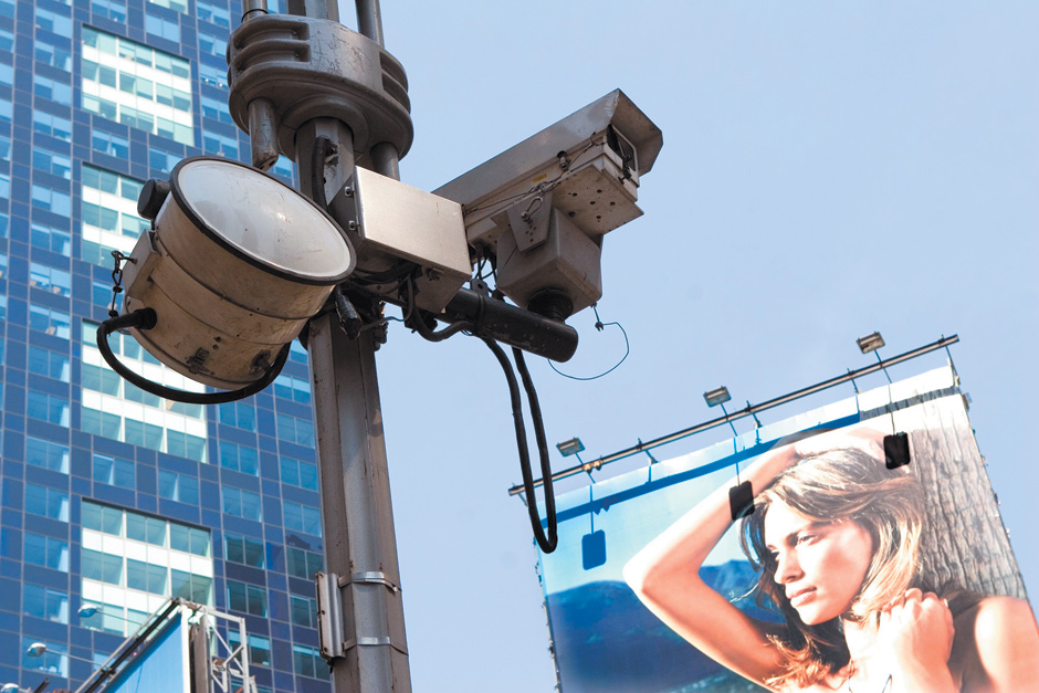 A CCTV camera in Times Square, New York City, 2005
