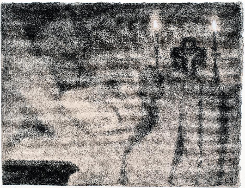 Georges Seurat: Anaïs Faivre Haumonté on Her Deathbed, 1887