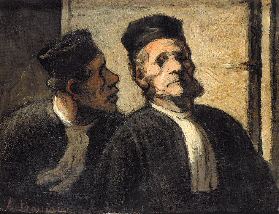 'The Two Lawyers'; painting by Honoré Daumier
