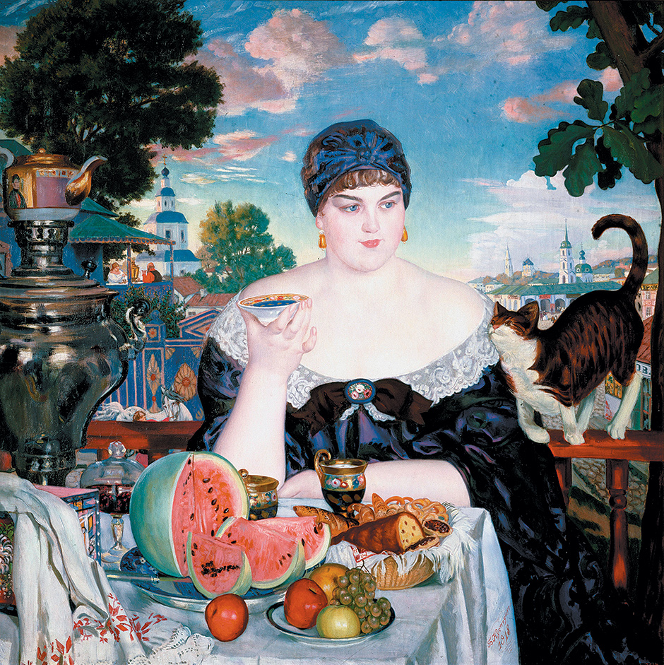 Boris Kustodiev: The Merchant's Wife's Tea, 1918