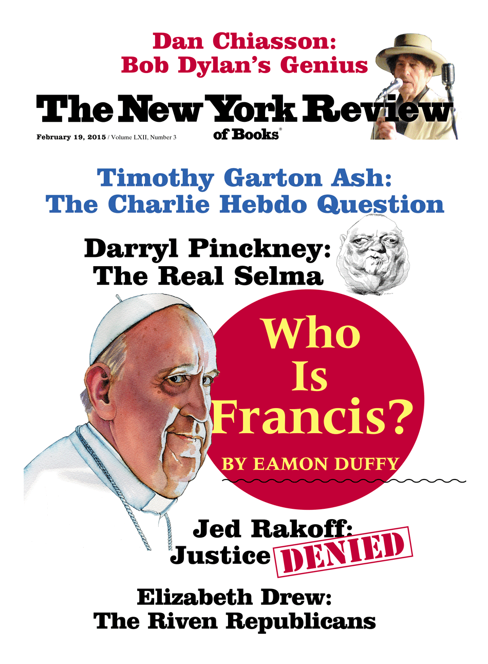 Image of the February 19, 2015 issue cover.