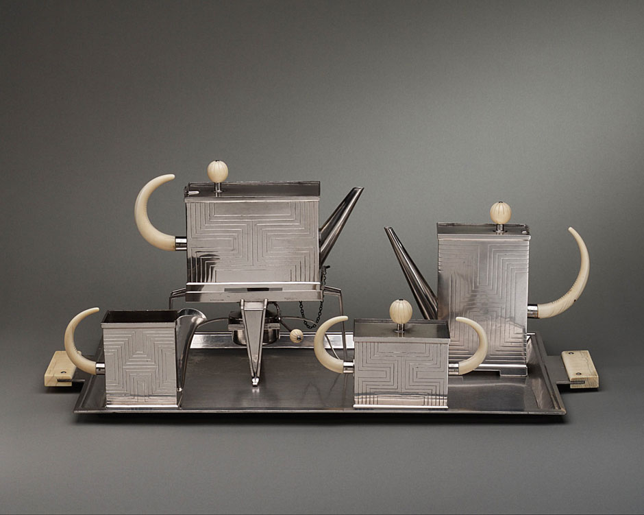 Tea service with tray designed by Peter Muller-Munk, 1931