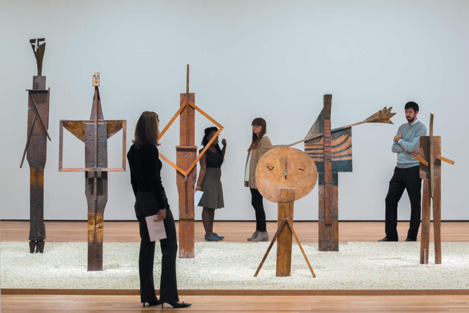Works by Pablo Picasso in the exhibition 'Picasso Sculpture' at the Museum of Modern Art, New York City, 2015