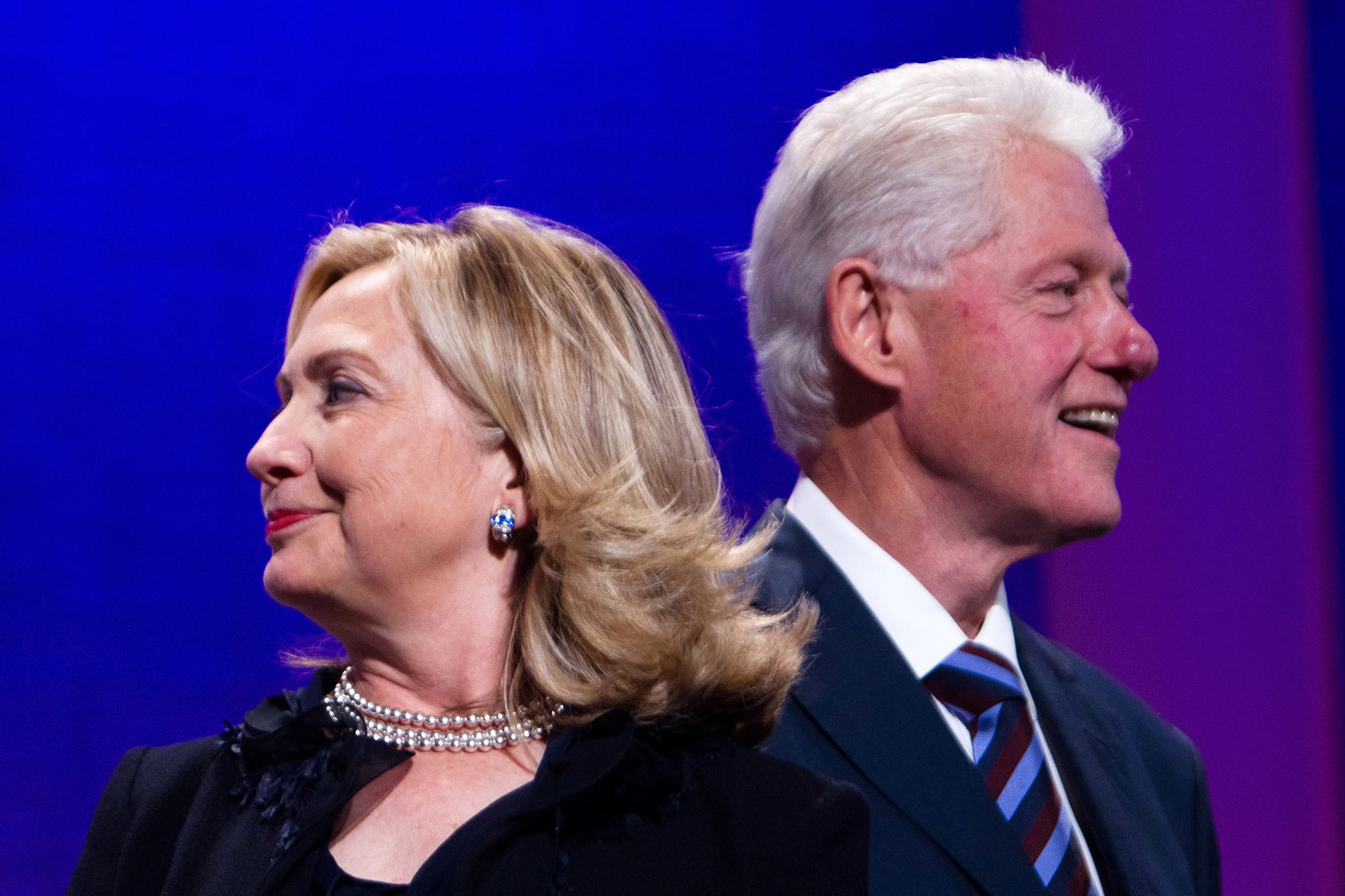 Hillary Rodham Clinton and Bill Clinton during the seventh annual meeting of the Clinton Global Initiative (CGI), New York City, September 22, 2011