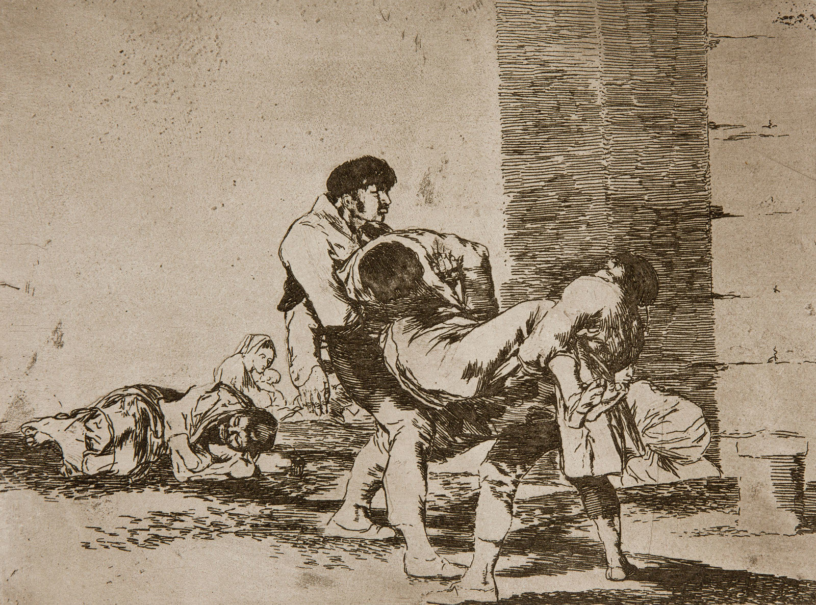 Francisco Goya: To the Cemetery, 1810-1820