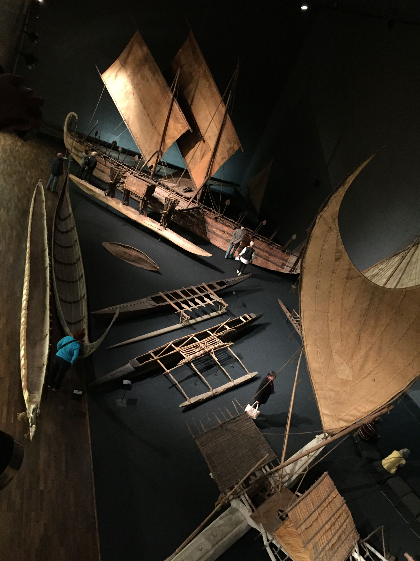 Outriggers at the Dahlem Museum, Berlin, 2016