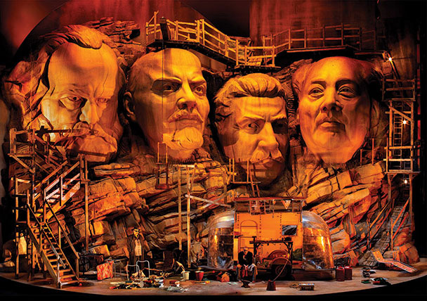 A set for Frank Castorf's production the Ring cycle, Bayreuth Festival, Germany, 2013