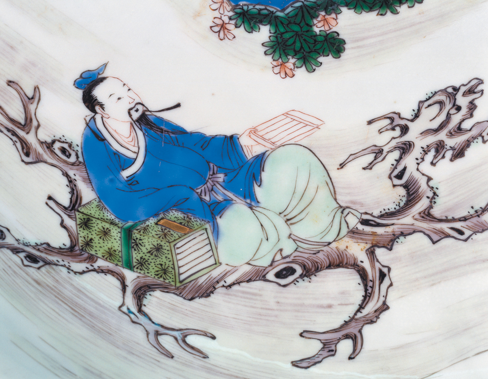 The poet Li Po; portrait from a ceramic plate, Qing Dynasty, circa 1700