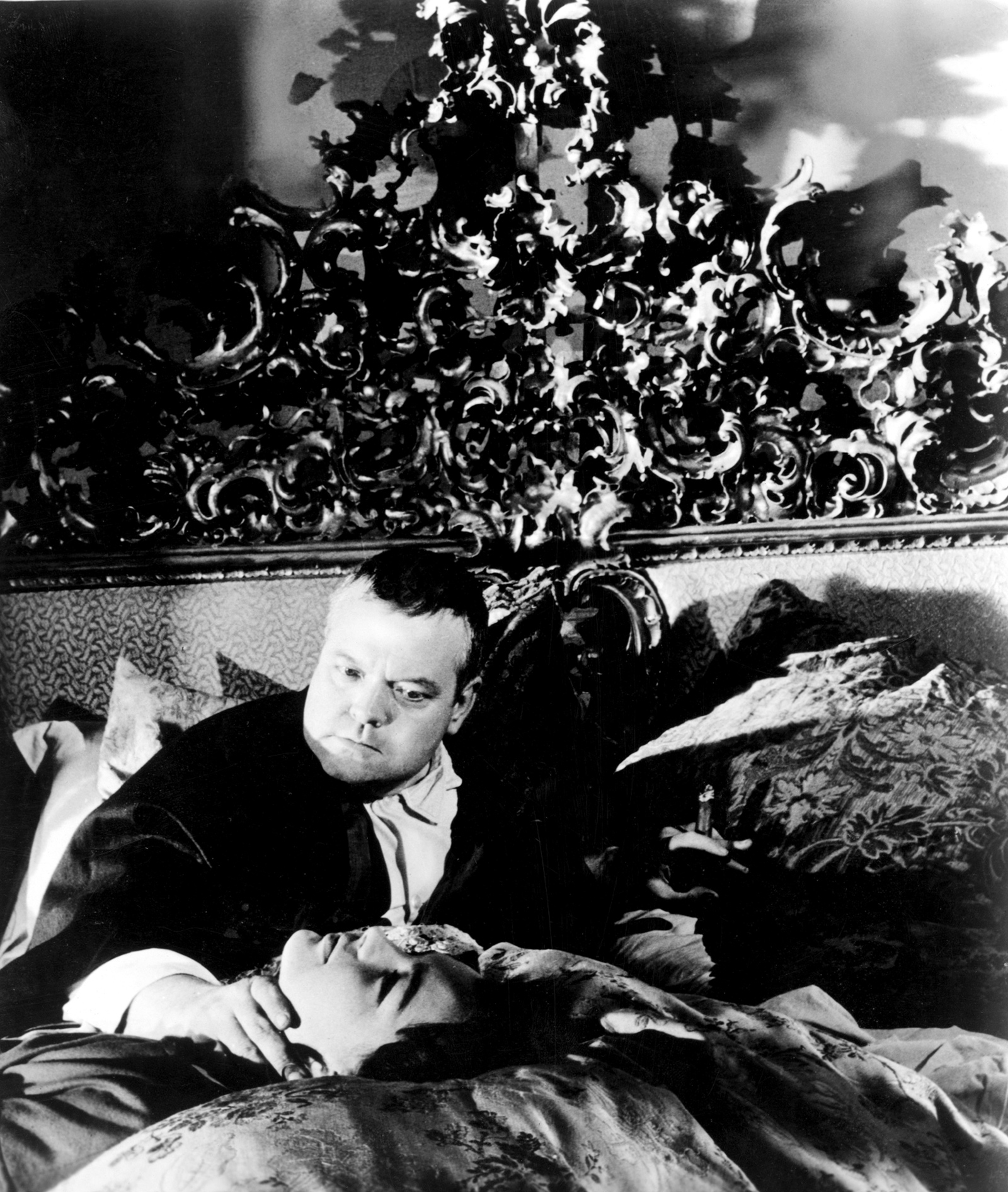 Orson Welles and Romy Schneider in The Trial, 1962