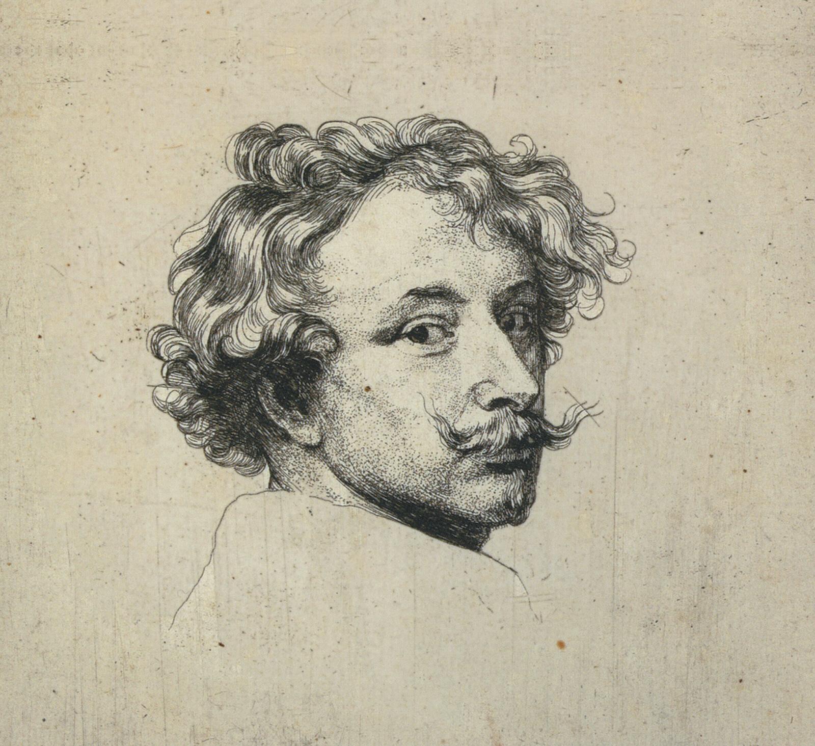 Anthony Van Dyck: Self-Portrait (detail), circa 1627–1635