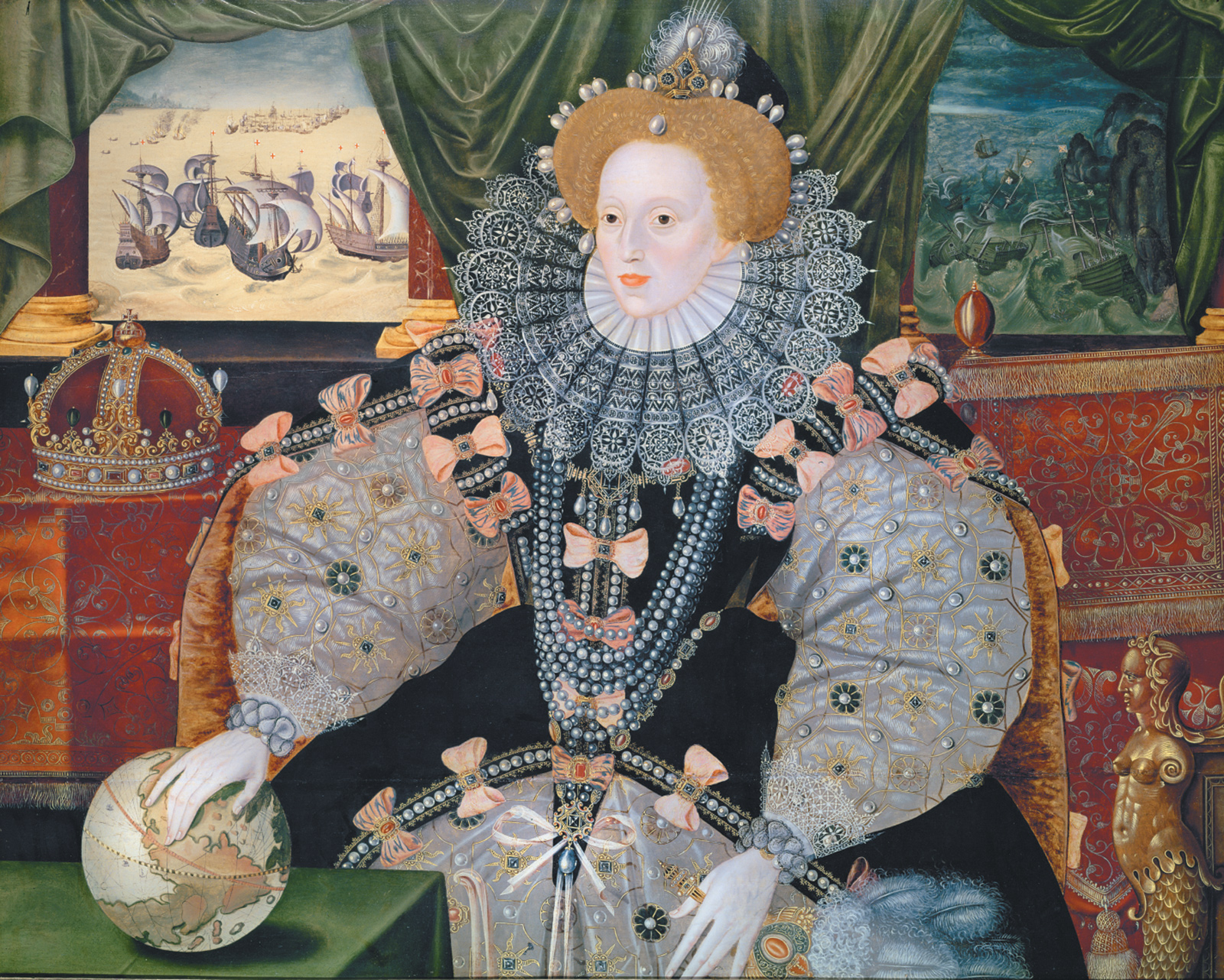 'The Armada Portrait' of Queen Elizabeth I; attributed to George Gower, circa 1588