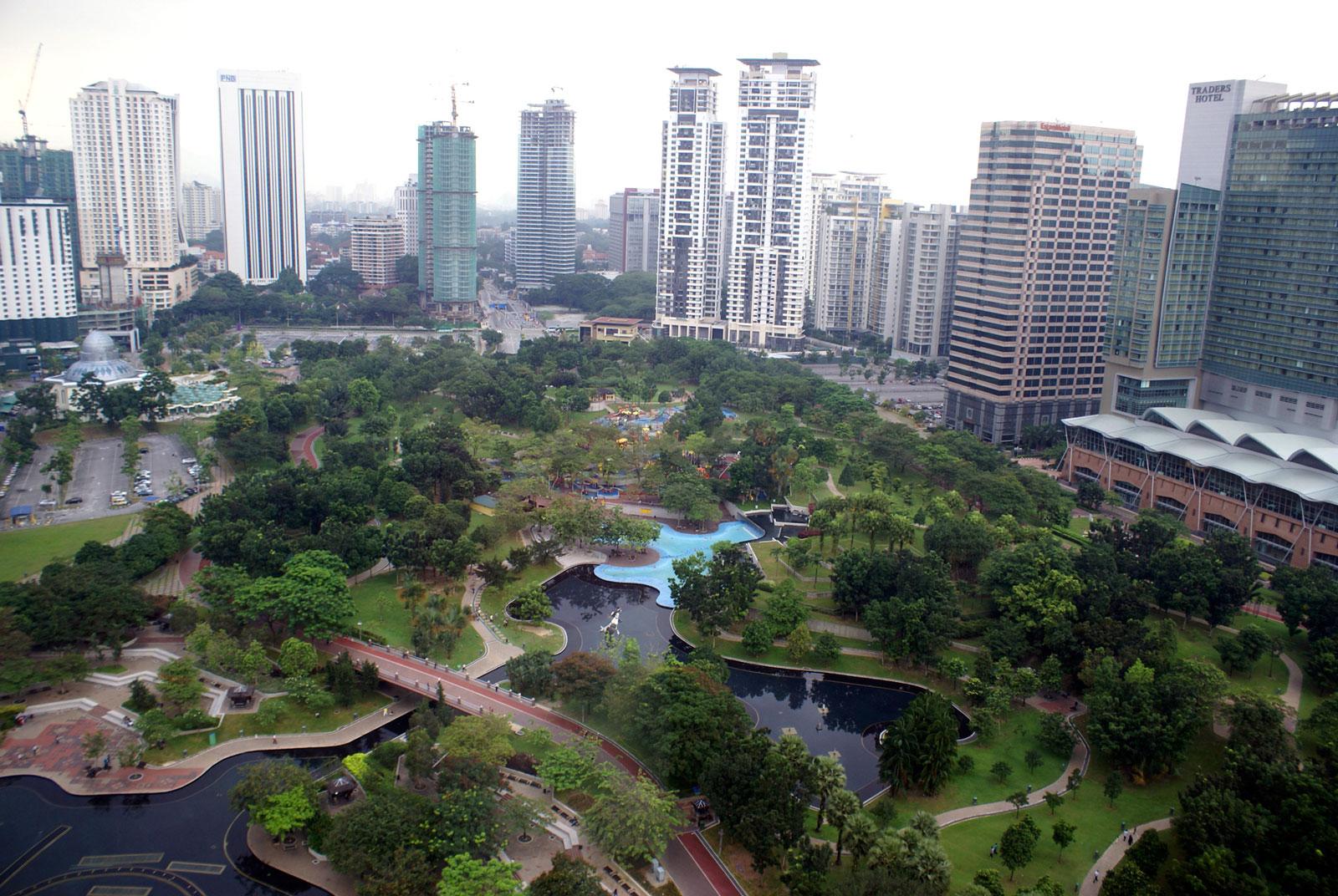 Kuala Lumpur City Centre Park (1998), based on a design by Burle Marx, Kuala Lumpur, Malaysia, May 19, 2008