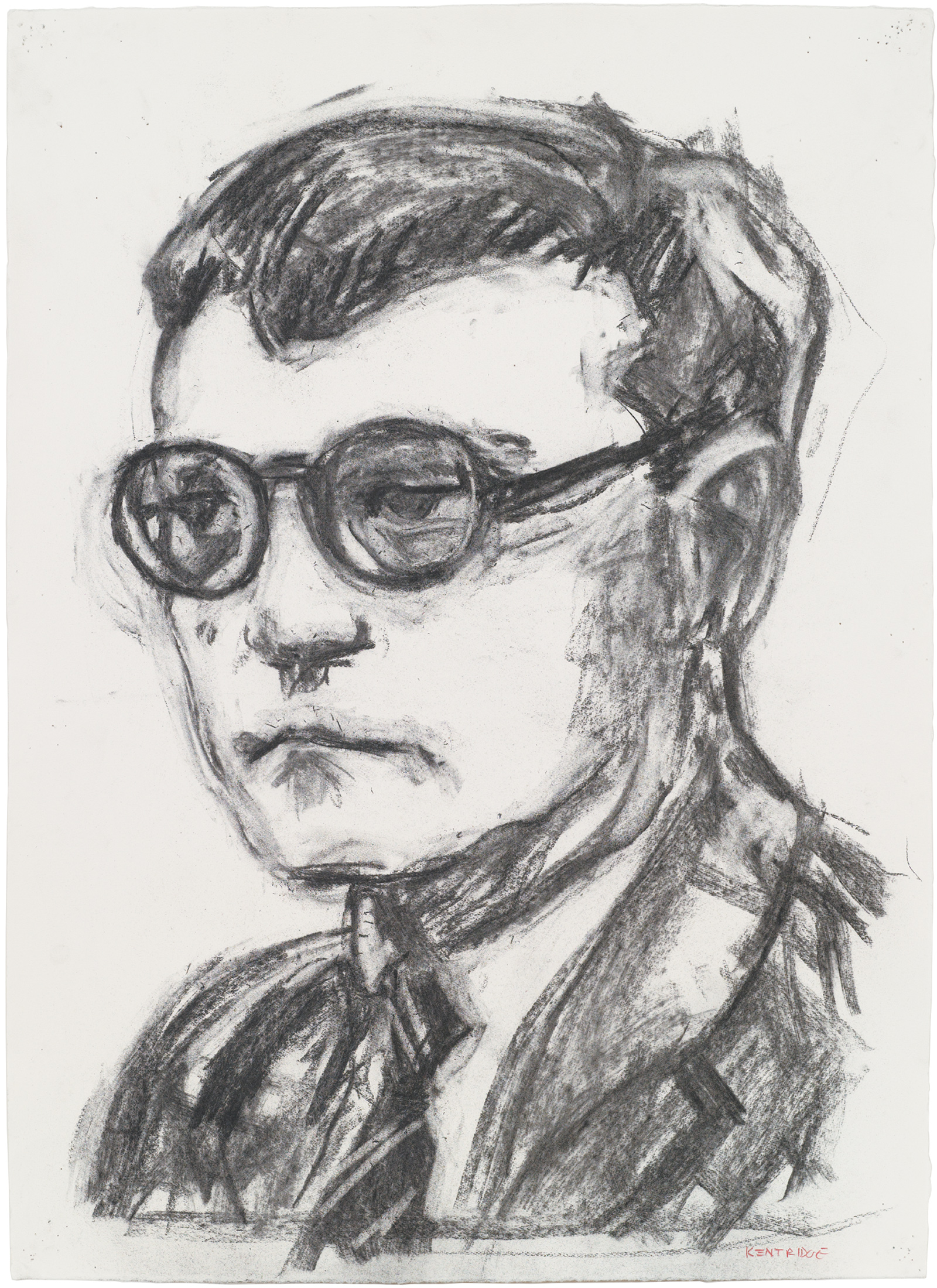 Dmitri Shostakovich; drawing by William Kentridge for his production of Shostakovich's opera The Nose, 2009