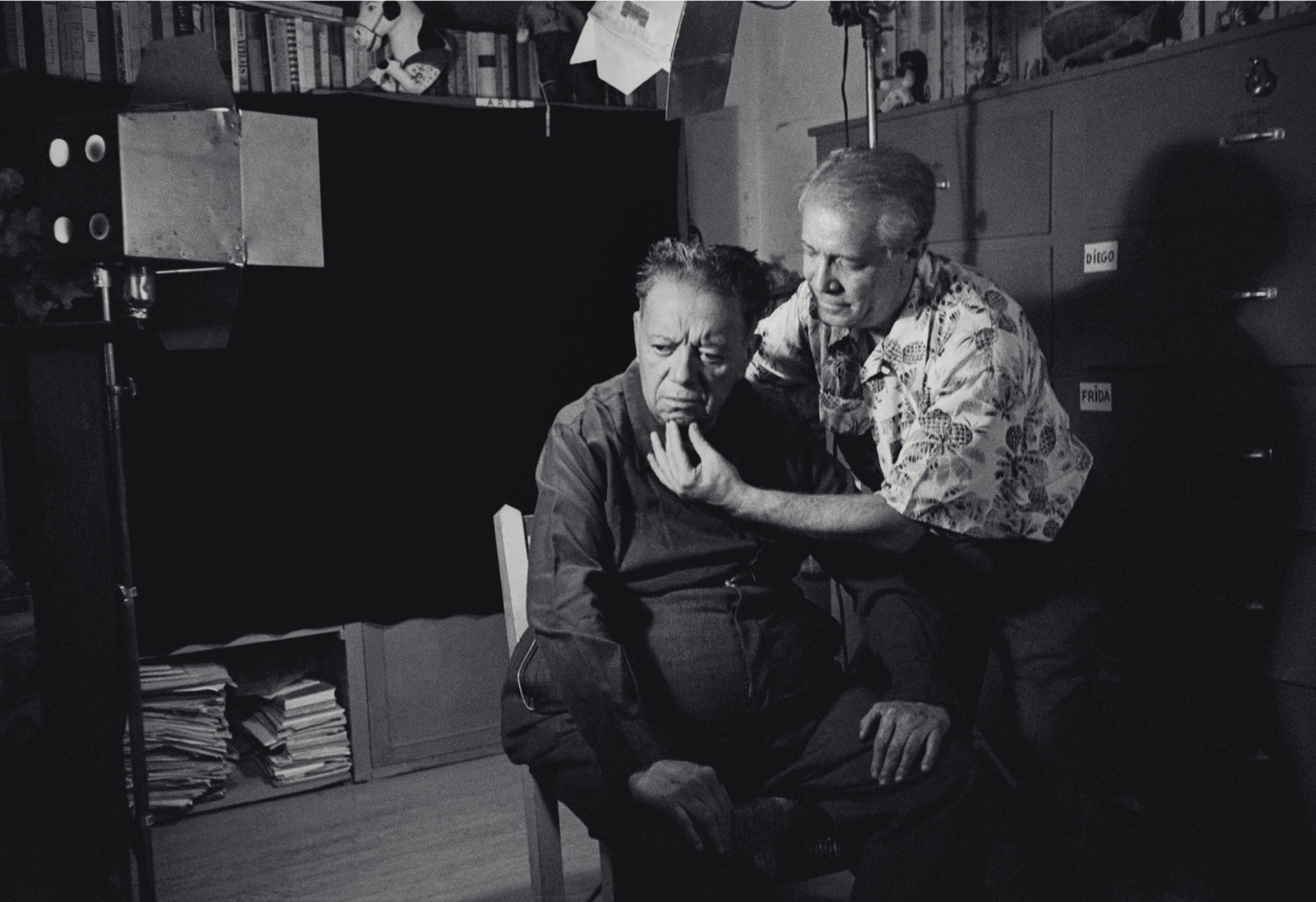 Photograph of Diego Rivera and Marcel Sternberger, Mexico, 1952