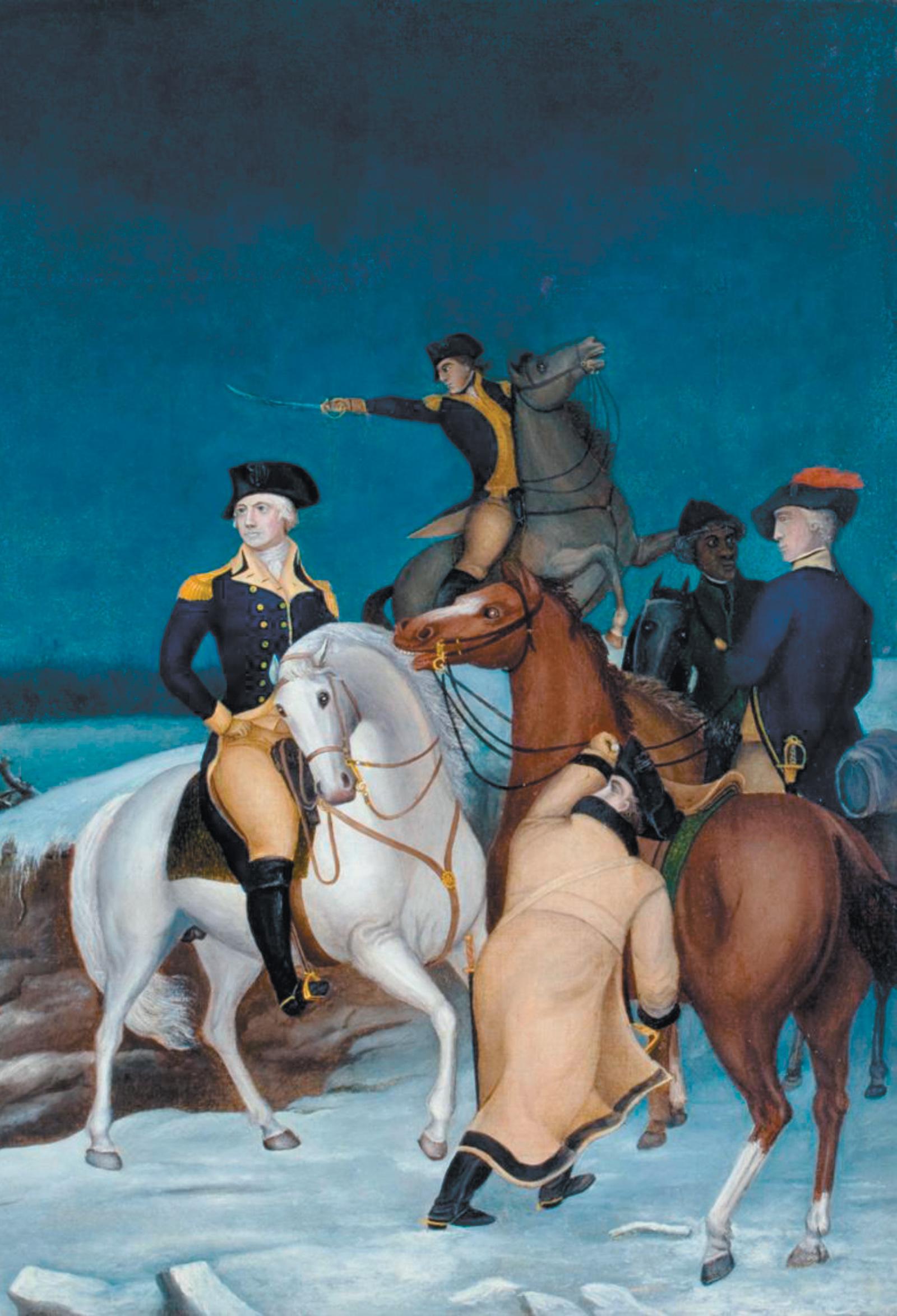 Edward Hicks: Washington at the Delaware (detail), circa 1849