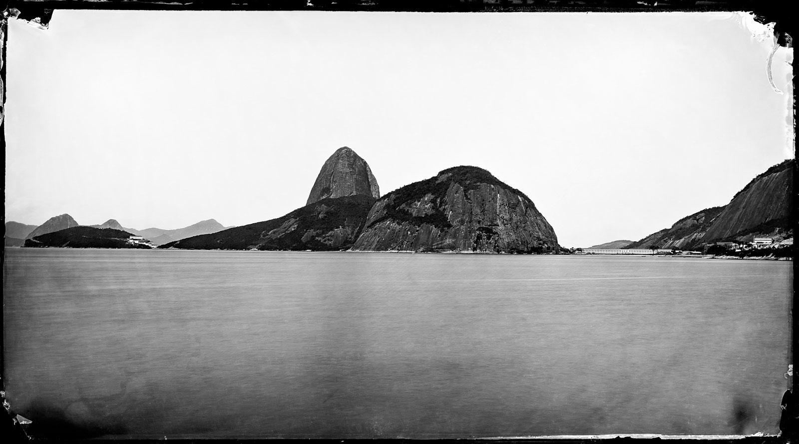 Sugarloaf Mountain viewed from Botafogo Beach, circa 1900