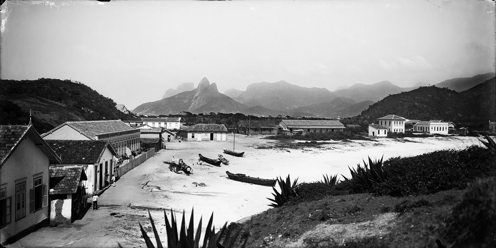 Copacabana, with Dois Irmãos Hill in the background, circa 1865