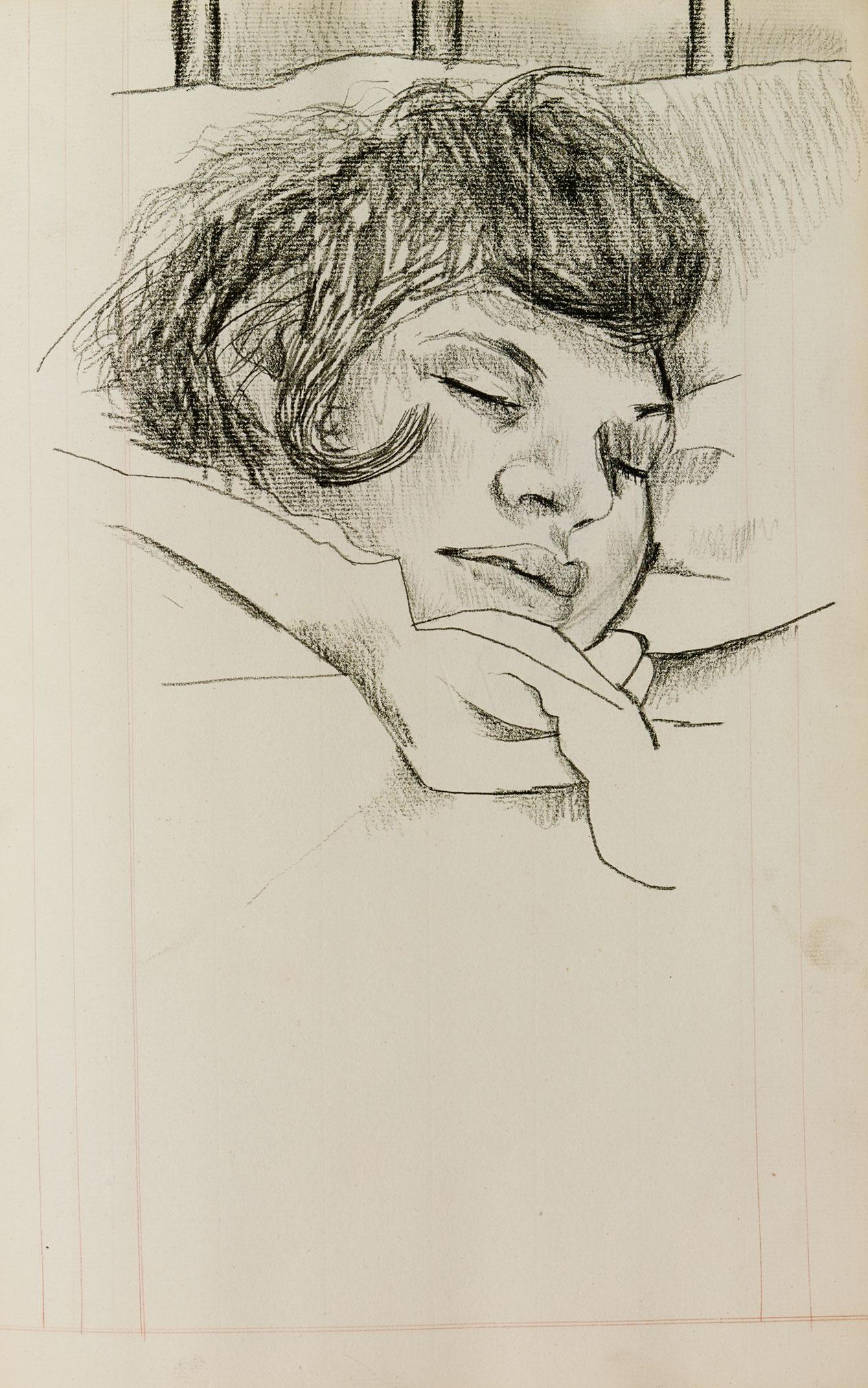 Lucian Freud: Girl sleeping, date unknown