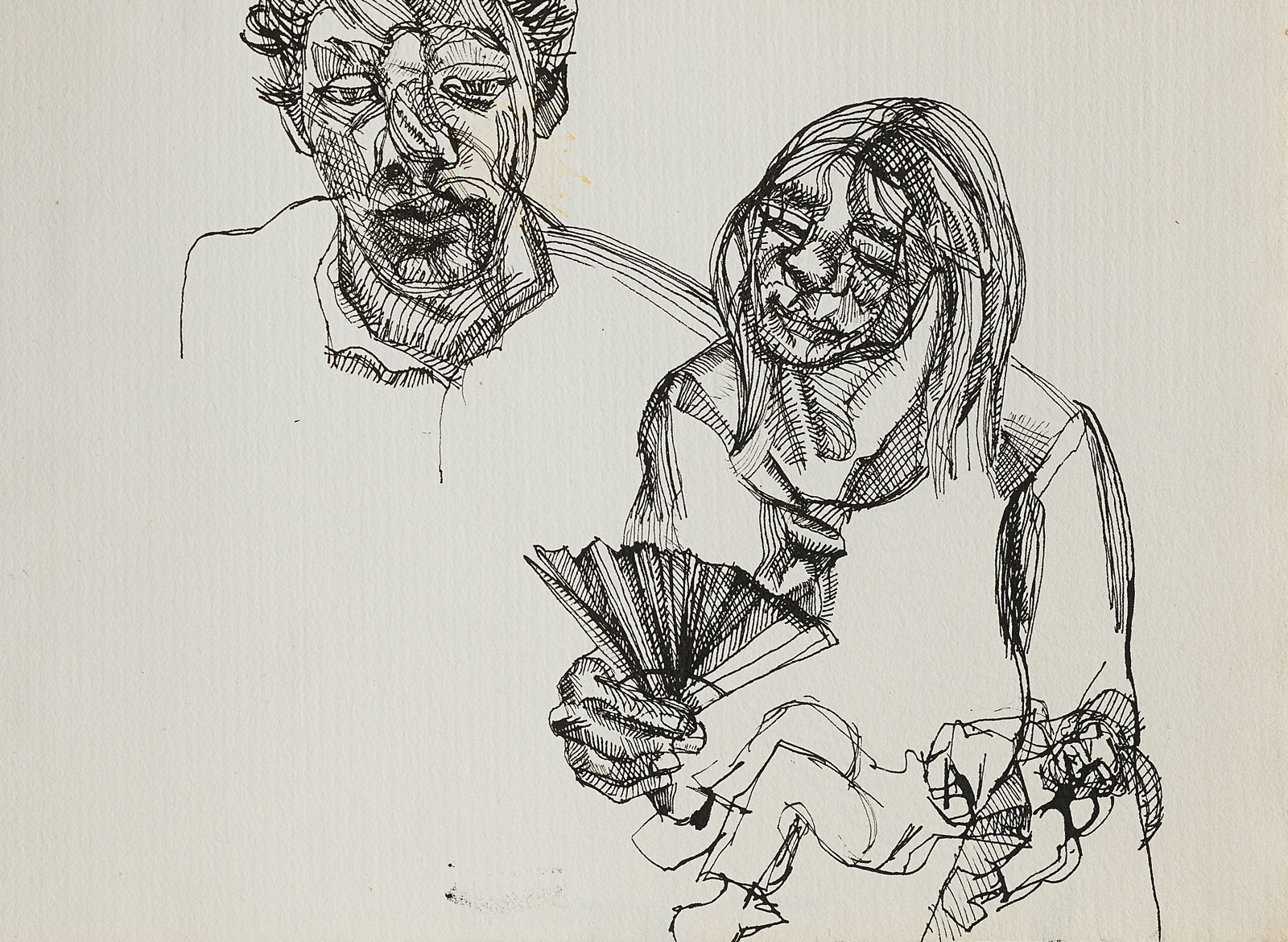 Lucian Freud: Sketch for Large Interior, WII (after Watteau), 1981-1983