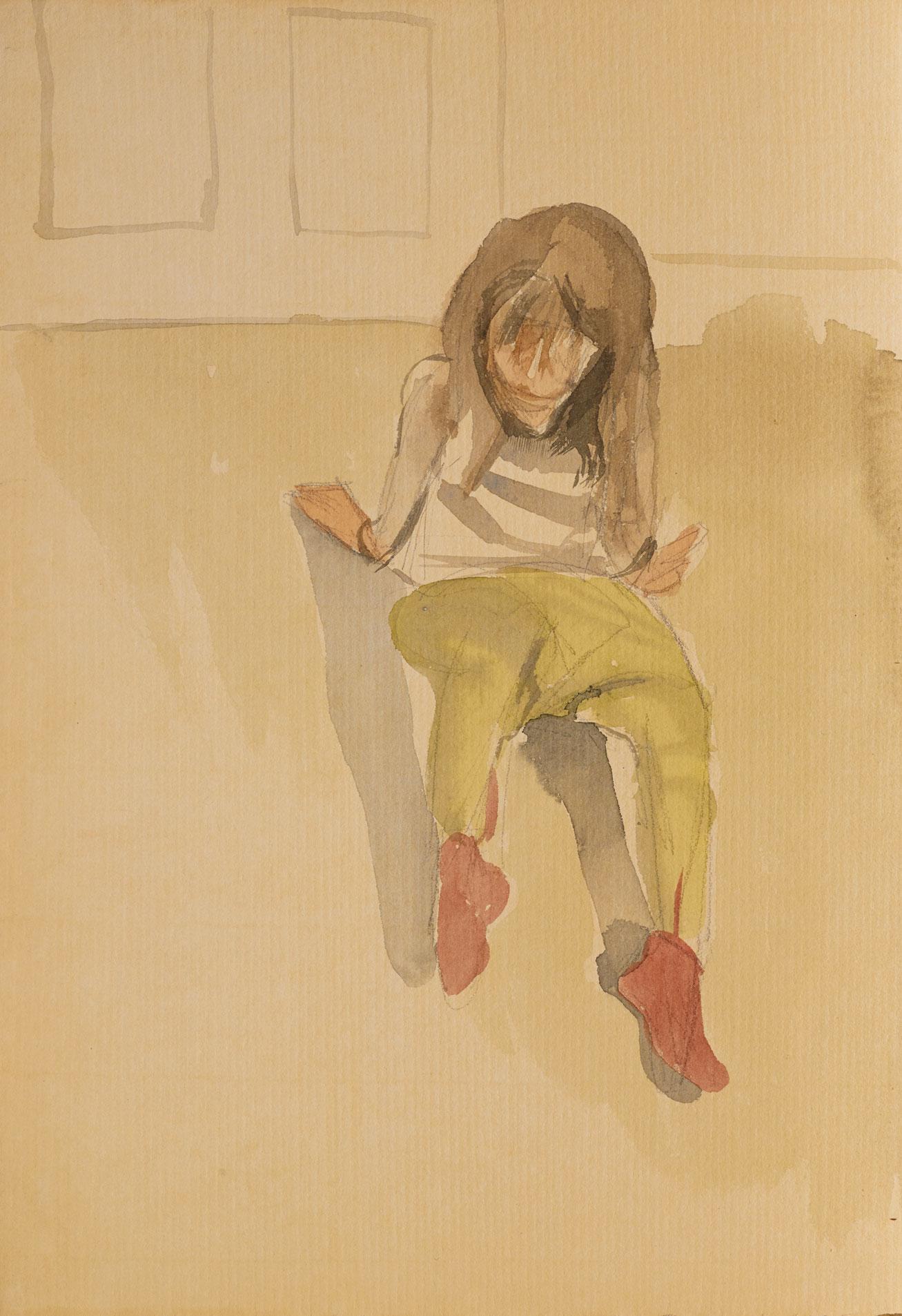 Lucian Freud: Child seated, circa 1961