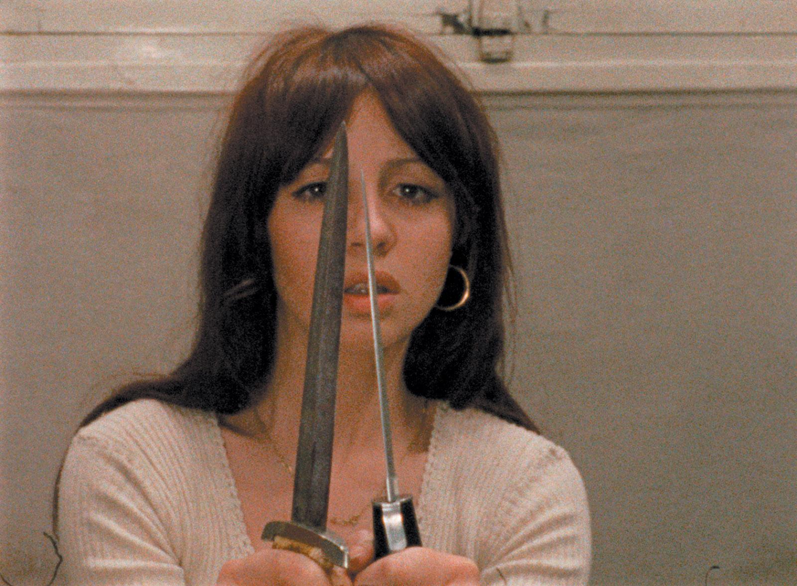 Juliet Berto as Frédérique in Jacques Rivette's film Out , 1971