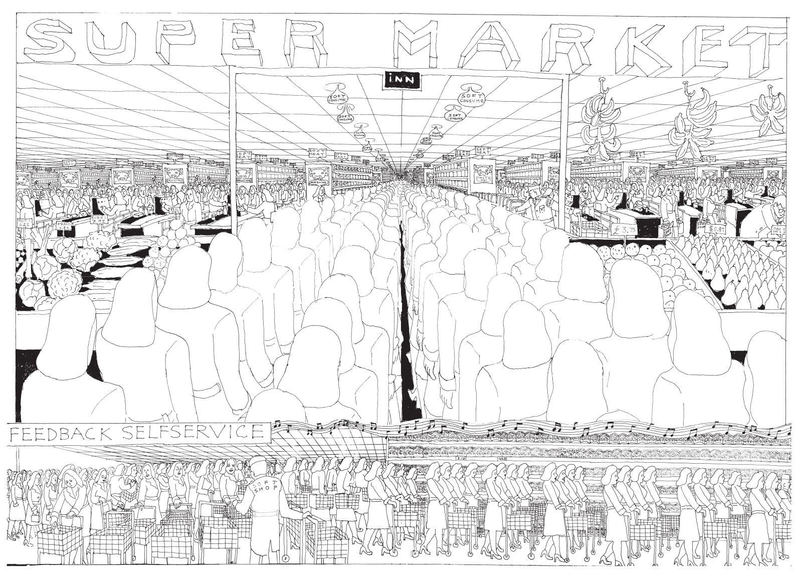 A spread from Soft City by Pushwagner; click on image to enlarge
