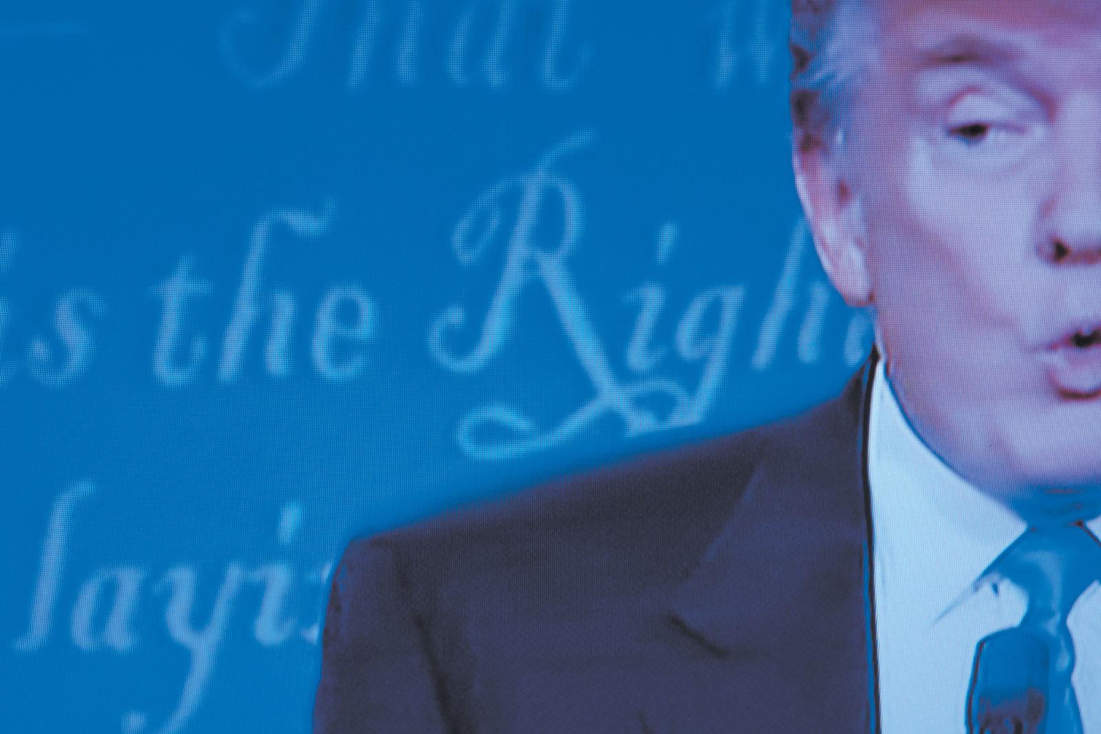 Donald Trump at the first presidential debate, Hofstra University, Hempstead, New York, September 26, 2016
