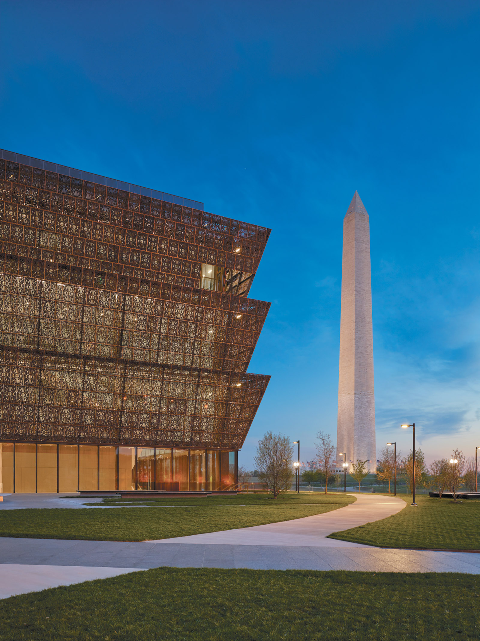 The Smithsonian's National Museum of African American History and Culture, which opened on the National Mall in Washington, D.C., in September 2016