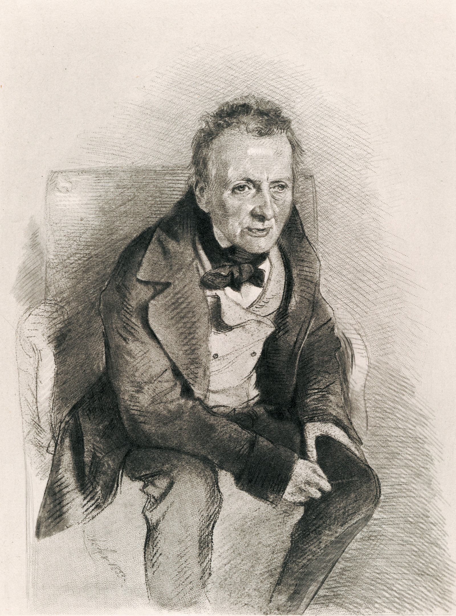 Thomas De Quincey; photogravure after an 1855 chalk drawing by James Archer