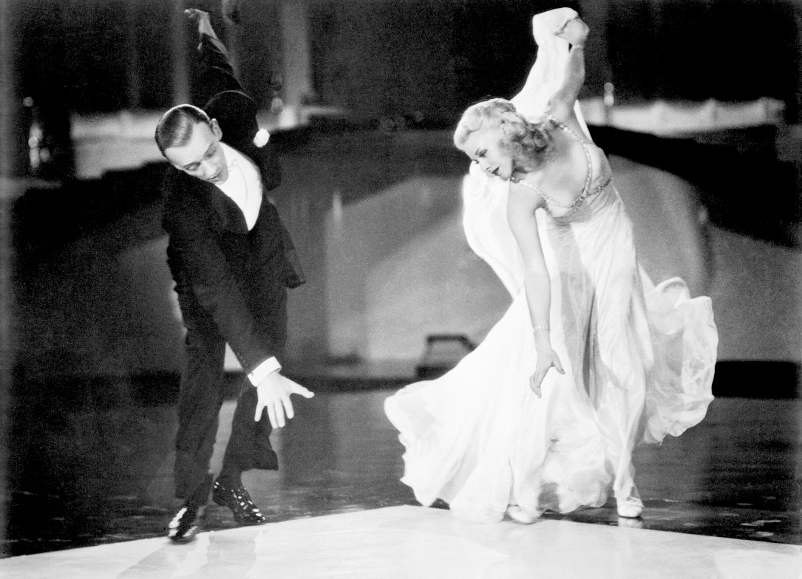 Fred Astaire and Ginger Rogers in Swing Time, 1936