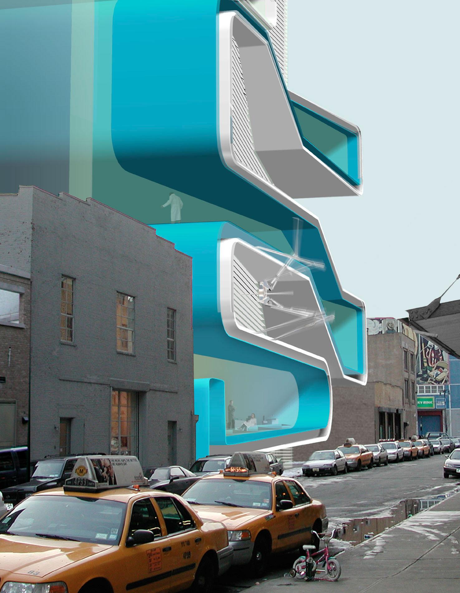 Rendering of Diller Scofidio + Renfro's Eyebeam Museum of Art and Technology, 2001
