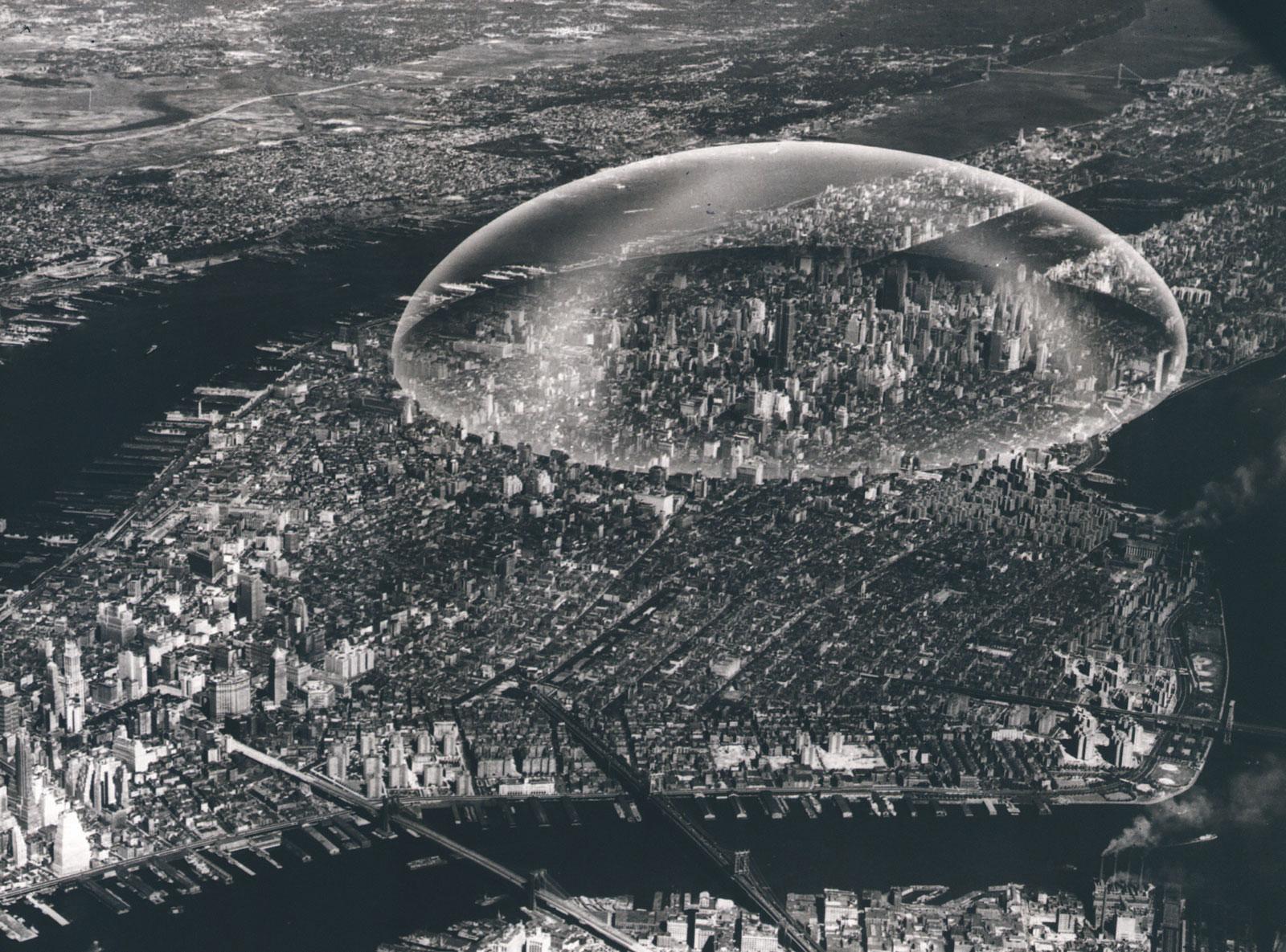 R. Buckminster Fuller's plan for a dome over Manhattan, 1961