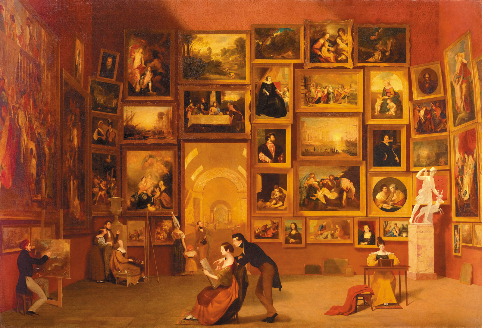Samuel F.B. Morse: Gallery of the Louvre, 1831–1833